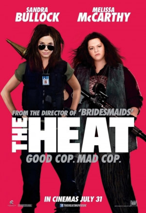 Above: the poster for 'The Heat', featuring Melissa McCarthy with ...