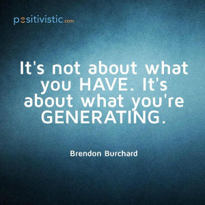 quote on what is it all about: brendon burchard possession lifestyle ...