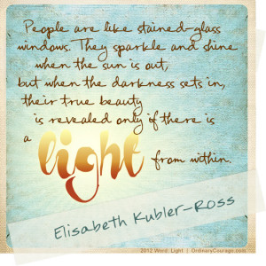 actually came from elizabeth kubler ross but i found it on ordinary ...