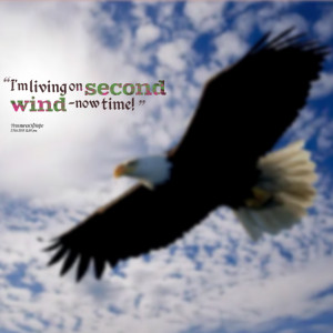 Quotes Picture: i'm living on second wind now time!