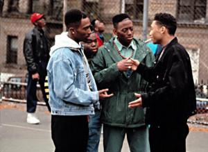 JUICE, Tupac Shakur, Jermaine Hopkins, Omar Epps, Khalil Kain, 1992.