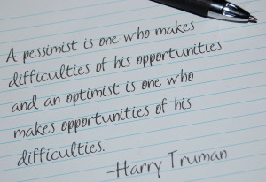 The Optimism/Pessimism Spectrum