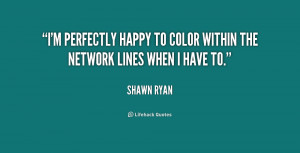 ... perfectly happy to color within the network lines when I have to