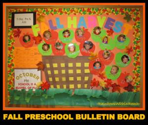 Preschool Bushel of Apples Bulletin Board with Photos of Children (via ...