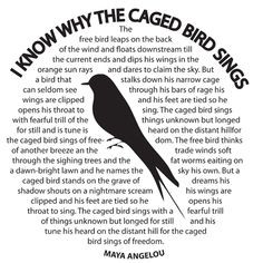 know why the caged bird sings by Maya Angelou. TITLE: A CAGED BIRD ...