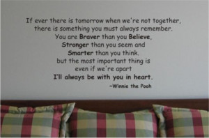 Details about Winnie the Pooh Quote A...Vinyl Wall Art Decal Sticker