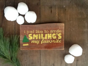 Vintage Wood Sign Rustic Wood Sign ELF Quote by BoardsBottlesnMore, $ ...