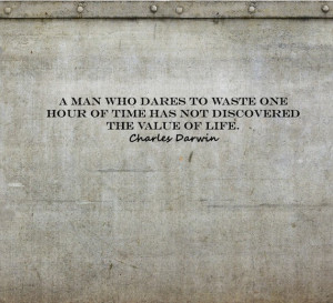 Charles Darwin Quotes on Wasting Time Custom Wall Decor Decal Stickers