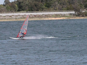 Windsurfing Lysterfield Park Lake picture