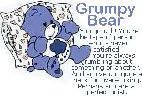 GRUMPY BEAR Picture