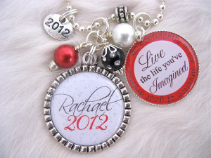 2013 Bottle cap Inspirational Quote Keychain Necklace, High School ...