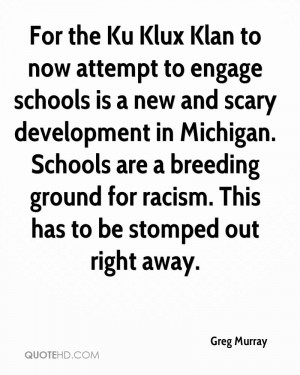 For the Ku Klux Klan to now attempt to engage schools is a new and ...