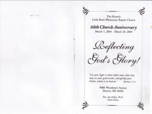 Little Rock Baptist Church 68th Anniversary Church Program. Womens Day ...