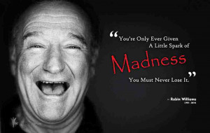 Robin Williams - Madness - Quote