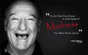 Robin Williams - Madness - Quote