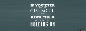 never give up quotes facebook cover