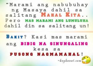 Cheesy tagalog banat love quotes