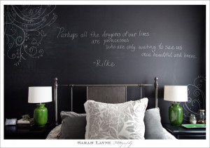 love this quote on my bedroom wall by the poet Rainer Maria Rilke ...