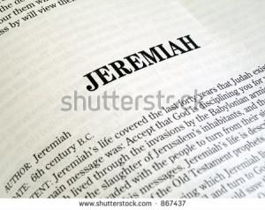 Jeremiah Book The Bible...