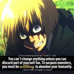 Attack on titan shingeki no kyojin Armin Arlert quotes