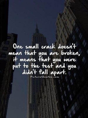 Quotes About Falling Apart Inside