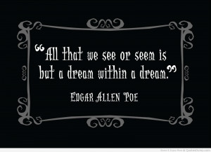 "... We See Or Seem Is But A Dream Within A Dream "" - Edgar Allen Poe"
