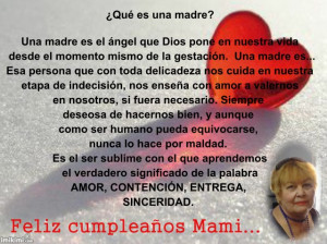 Happy Birthday Poems for Mom in Spanish