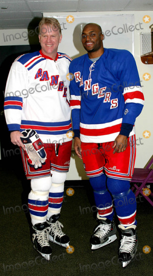 Boomer Esiason Picture Superskate Vi a Celebrity Hockey Event to