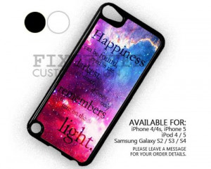 AJ 2232 Harry Potter Happiness Quote case for iPod 5