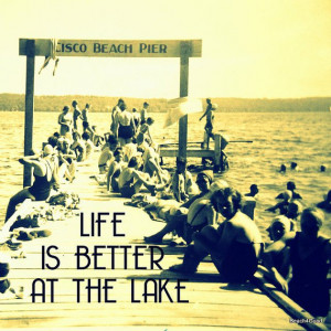 Life is Better at the Lake quote print Lake House Decor photograph ...
