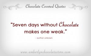 Best Chocolate Quotes