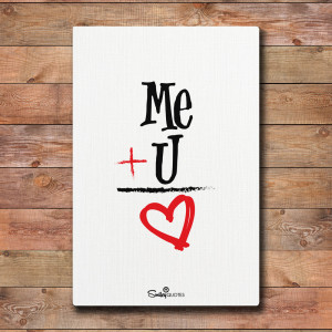 Me Plus You Equals Love