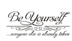 English Be Yourself inspirational sayings in English English classroom ...