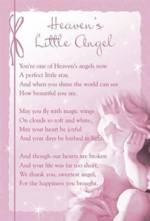 Little Angel in Heaven Quotes