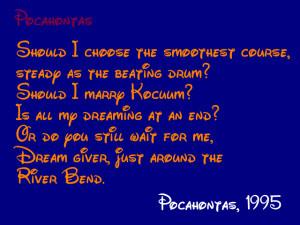 Disney Pocahontas Quotes