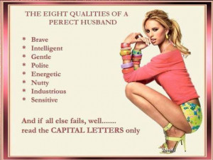 The eight qualities of a perfect husband