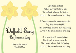 ... Daffodils Songs, 03 Mars, Songs Sheet, Illustration Daffodils, Free