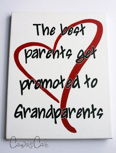 New Grandparents Quote with Red Heart, New Baby Gift, 11x14 Acrylic ...