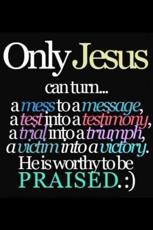 Praise God! :)