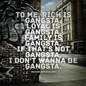 Real Gangster Quote Graphic