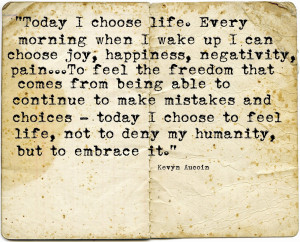Quote Book #7 - I Choose Life
