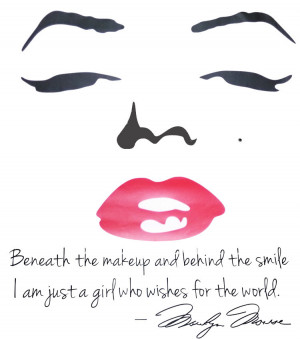Sexy-Marilyn-Monroe-Red-Lips-English-Quote-Removable-Wall-Sticker-Home ...