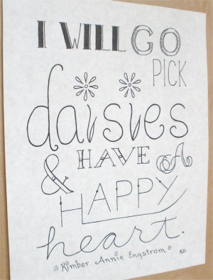 Flower Quote Picture Quote Lettering Art by CornerChair on Etsy, $60 ...