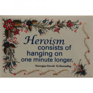 Norwegian Proverb Magnet With Os Design By Norma Wangsness