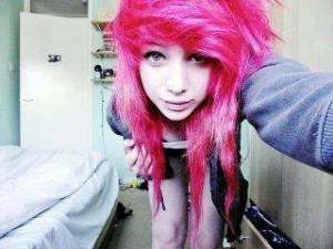 Pink hair :3