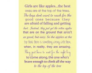 Girls Are Like Apples Print