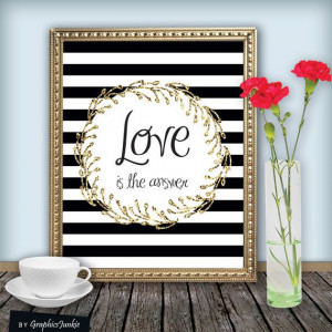 Quote+Print++Love+is+The+Answer+Printable+wall+by+GraphicsJunkie,+$5 ...