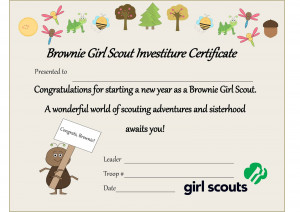 girl scout daisy certificate templates
