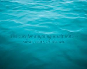 Salt Water Cure Art Quote Print, 8x10, Beach House Decor, Ocean Theme ...