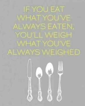 Weight Loss Motivation Quote – If you eat what you've always eaten ...